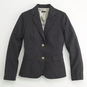 J. Crew Jackets & Coats - J. Crew Schoolboy Tweed Wool Blazer Grey Size 12